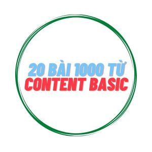20 bài Content Basic 1000 từ