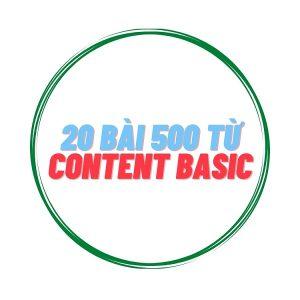 20 bài Content Basic 500 từ